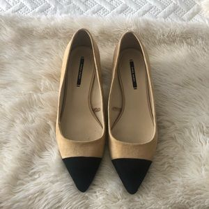 ZARA CAP TOE SHOES